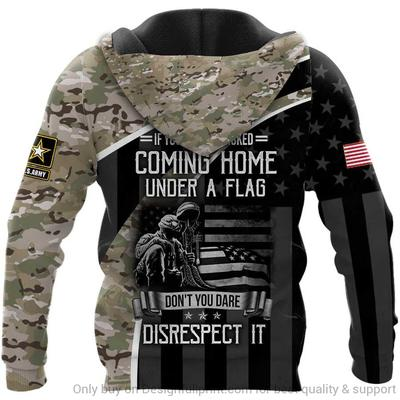 custom name us veteran if you havent risked coming home under a flag full over printed hoodie 1