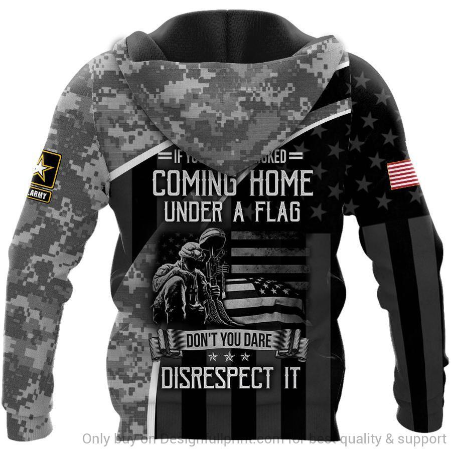 custom name veteran us army honor the fallen camo full over printed shirt 3