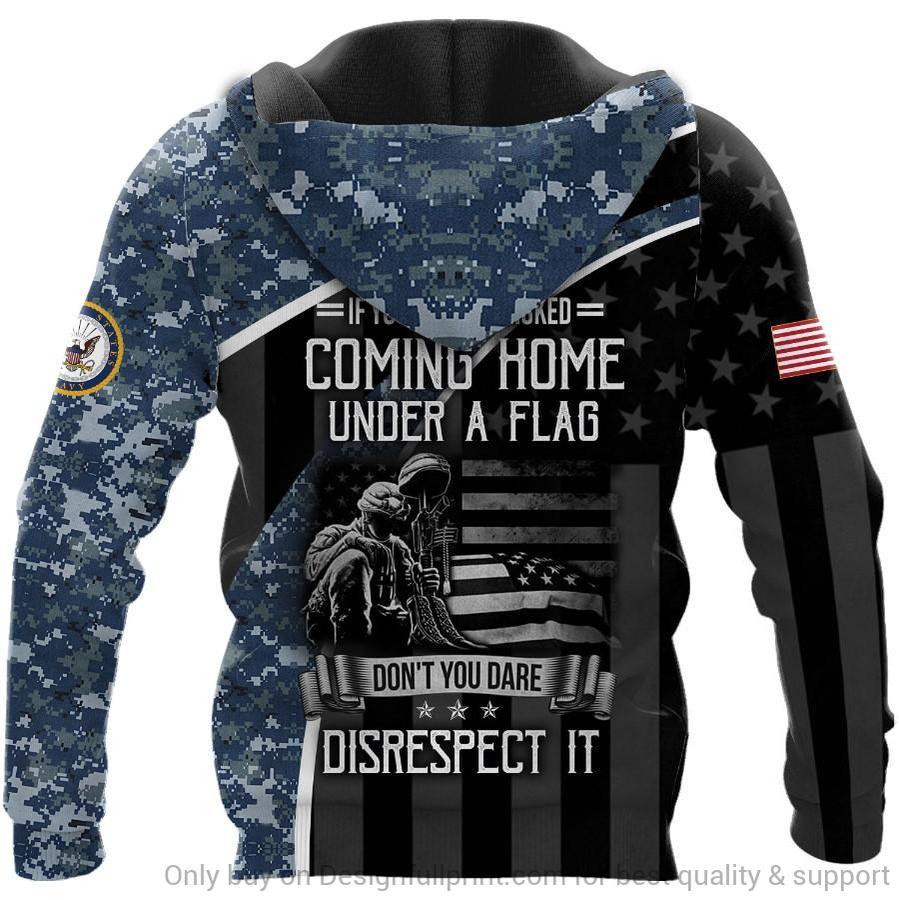 custom name veteran us navy honor the fallen camo full over printed shirt 3