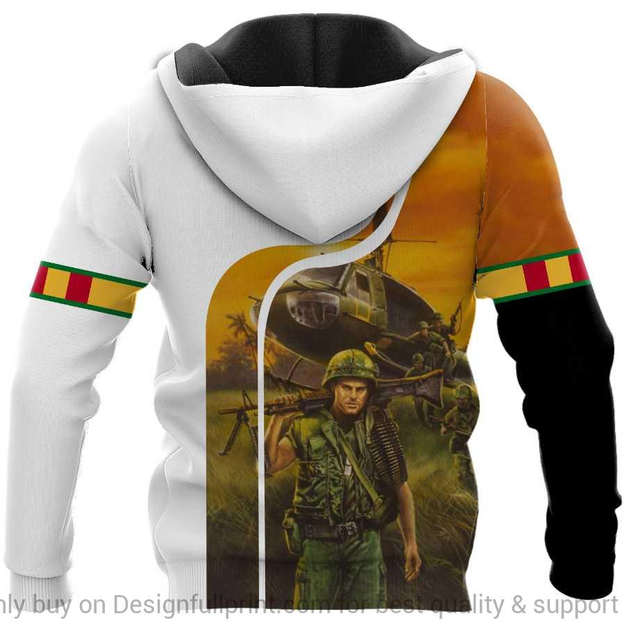 custom name vietnam veteran i walked the walk full over printed hoodie 1