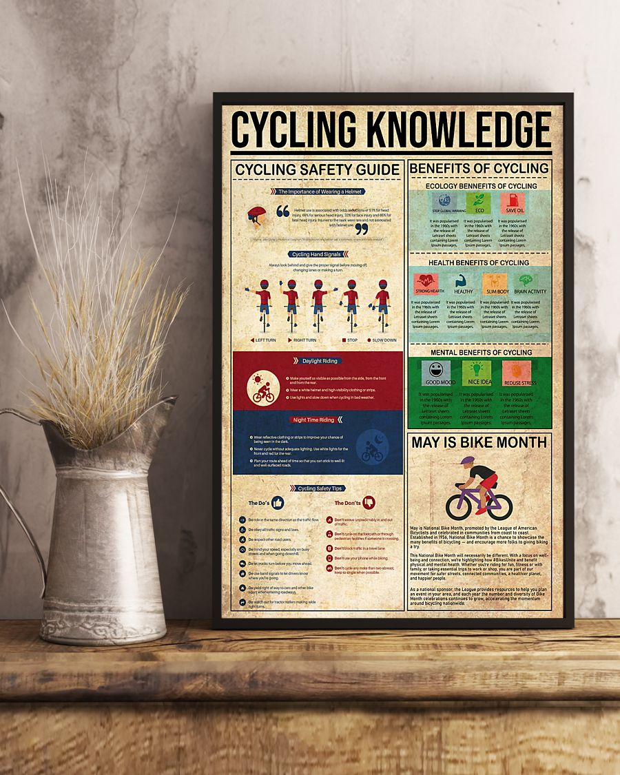 cycling knowledge vintage poster 3