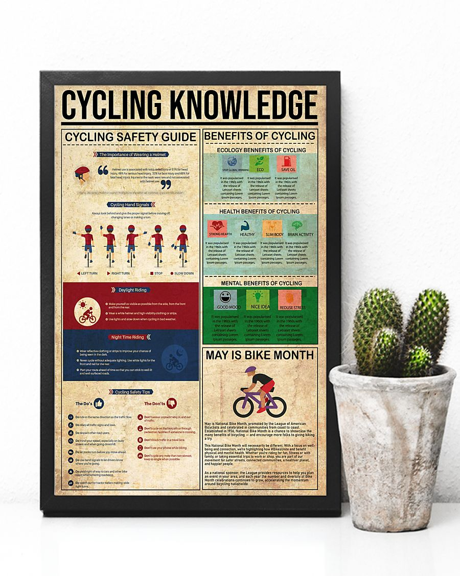 cycling knowledge vintage poster 4