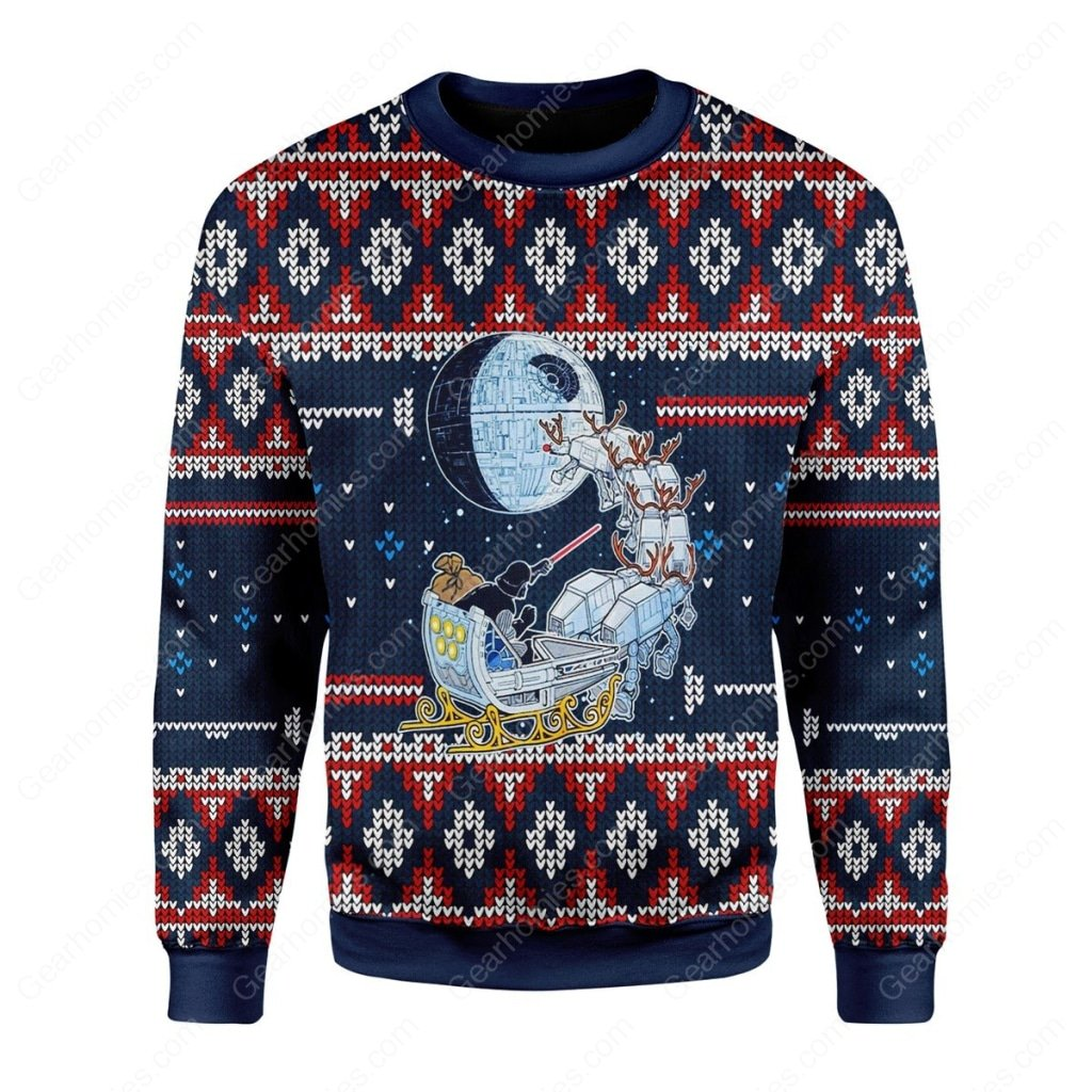 darth vader star wars all over printed ugly christmas sweater 3
