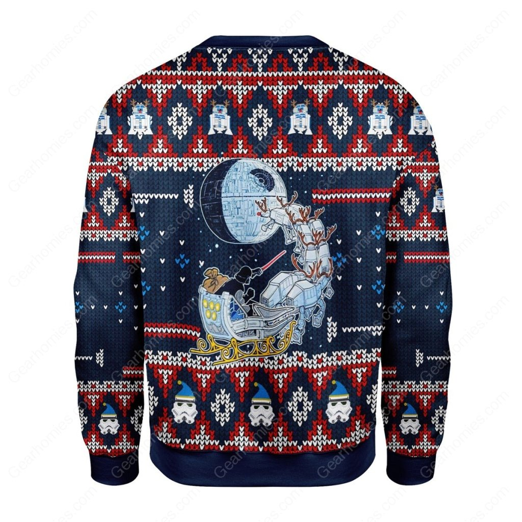 darth vader star wars all over printed ugly christmas sweater 4