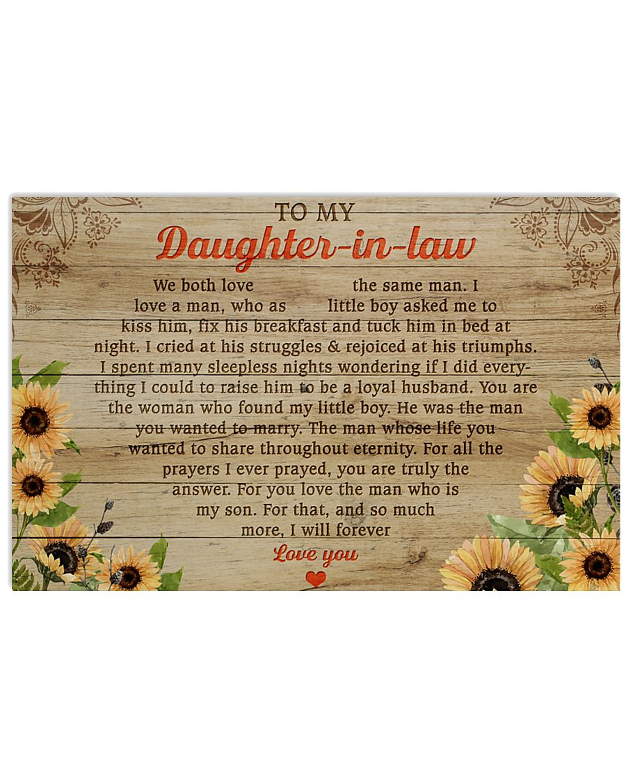 daughter-in-law so much more ill forever love you sunflower poster 2