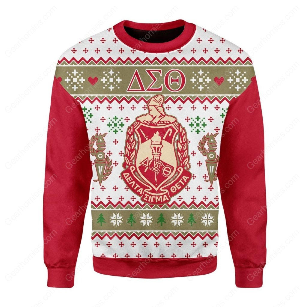 delta sigma theta all over printed ugly christmas sweater 2