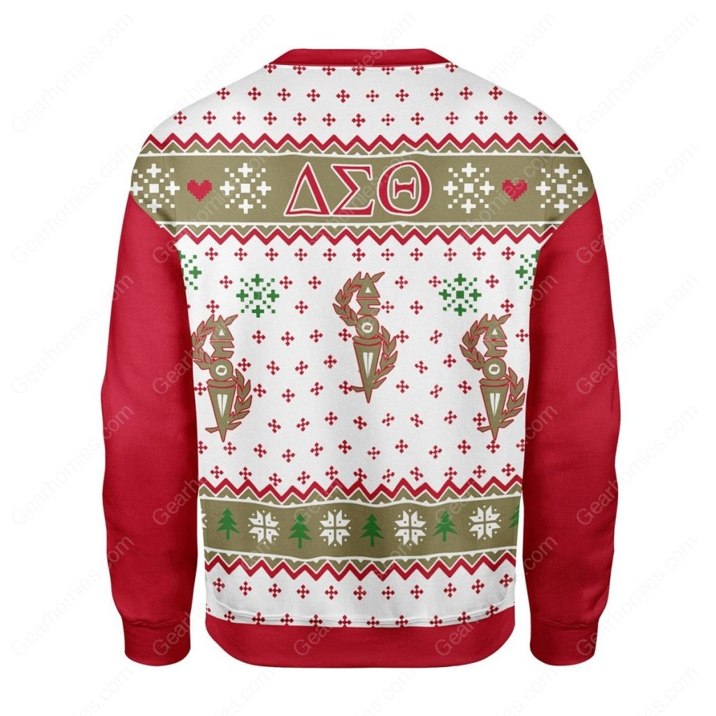 delta sigma theta all over printed ugly christmas sweater 5