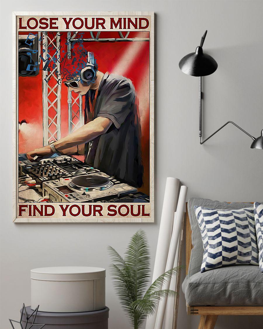 dj lose your mind find your soul vintage poster 2