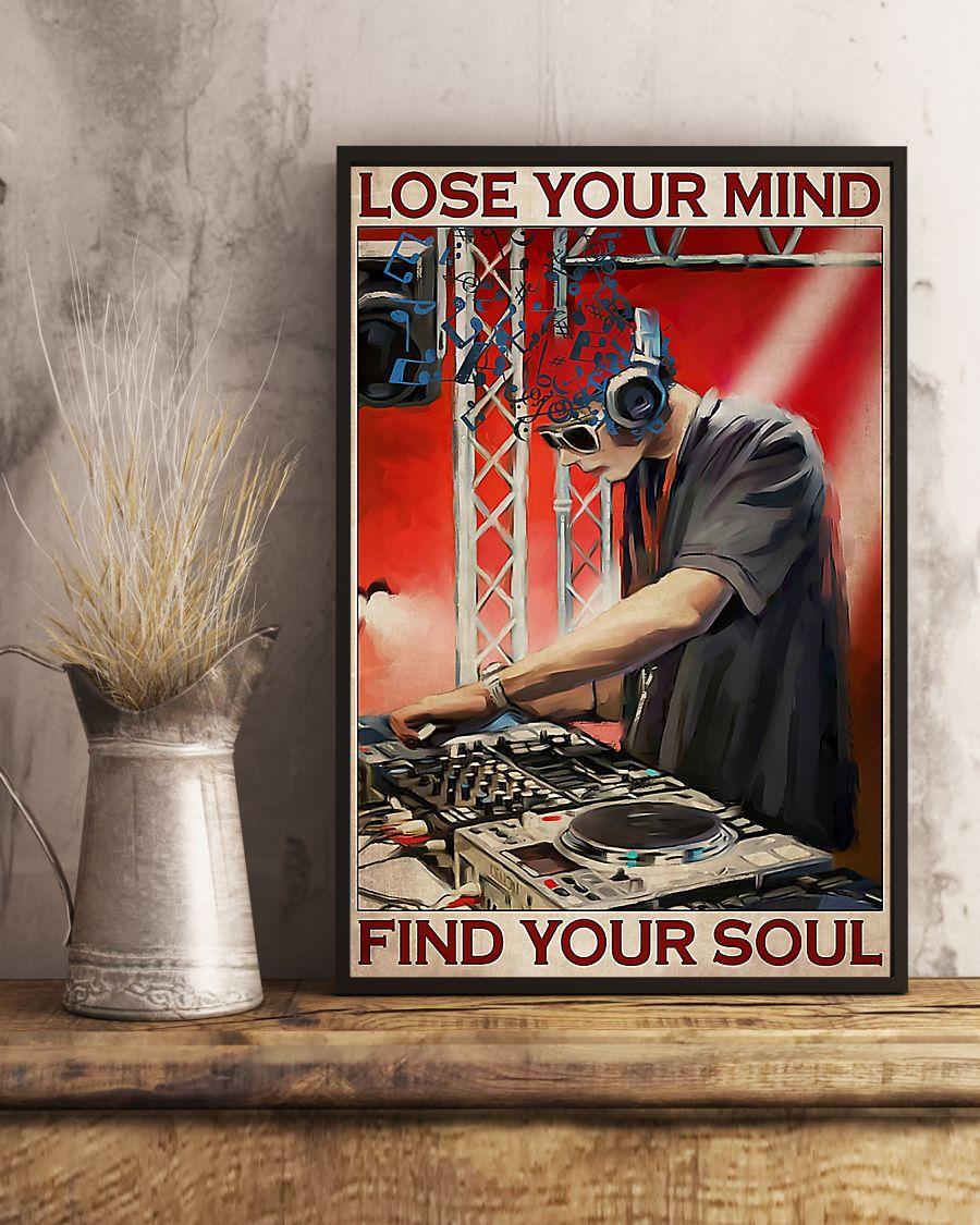 dj lose your mind find your soul vintage poster 3