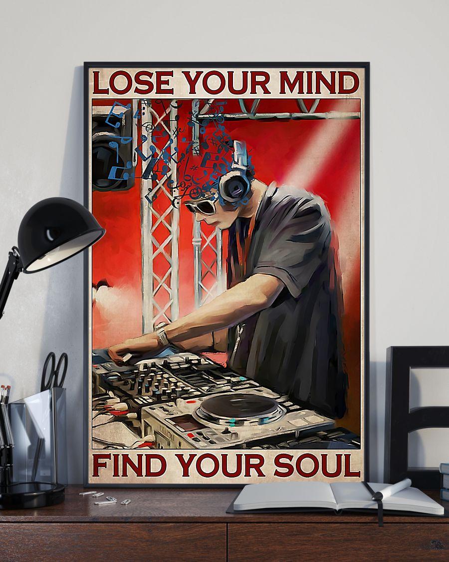 dj lose your mind find your soul vintage poster 4