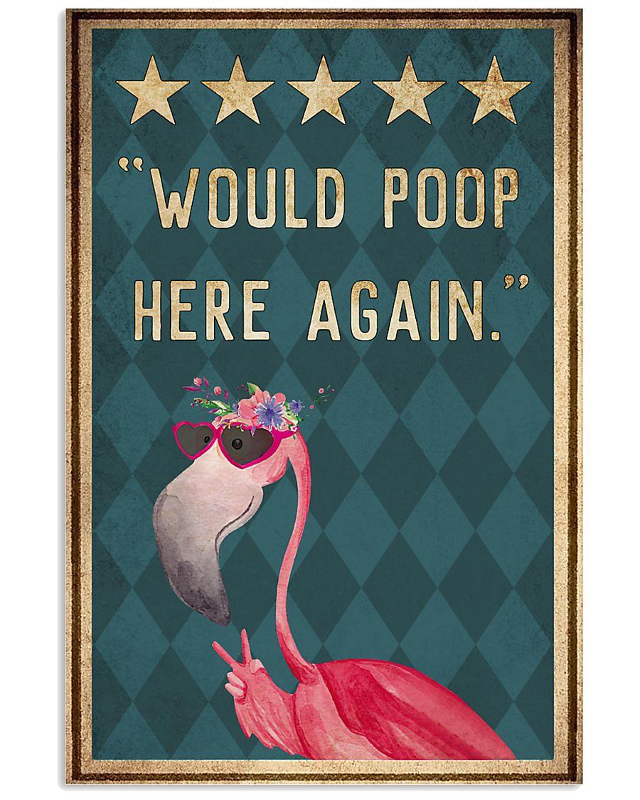 flamingo would poop here again vintage poster 1