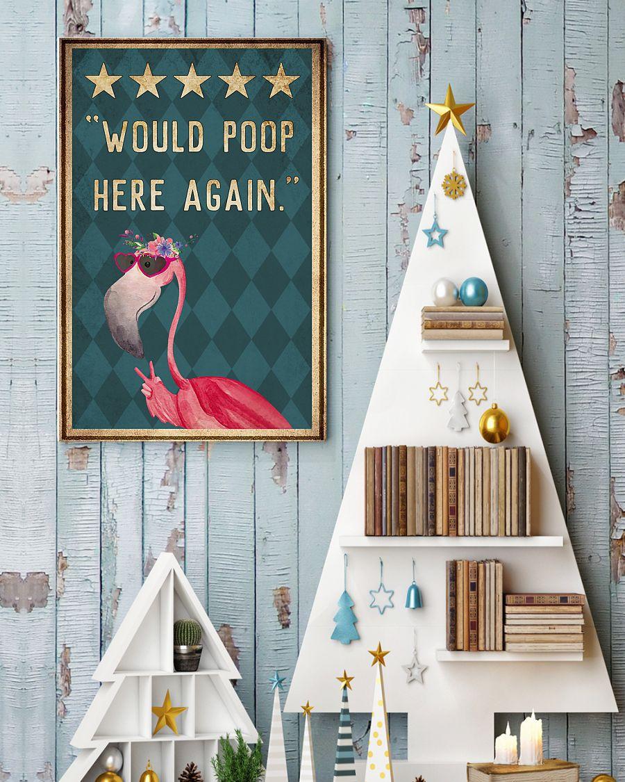 flamingo would poop here again vintage poster 3
