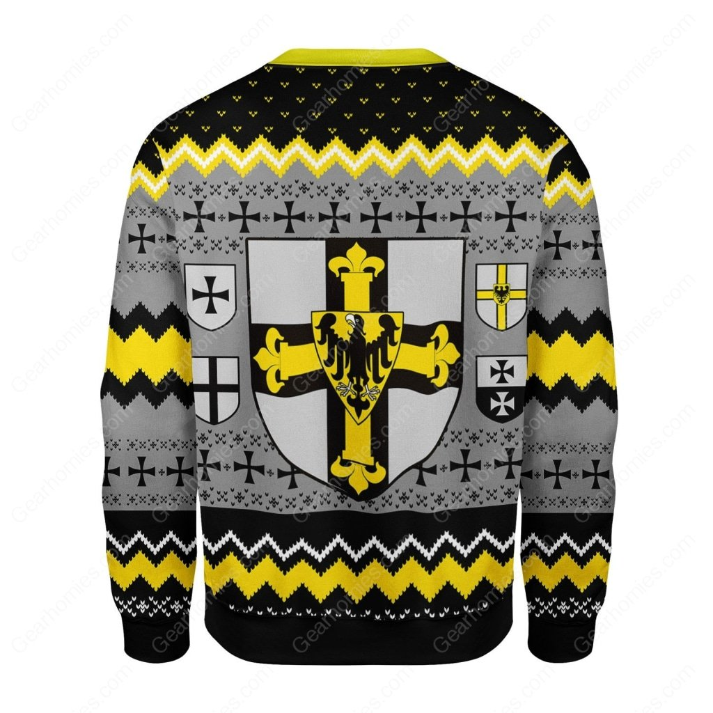 grand master of the teutonic order all over printed ugly christmas sweater 5
