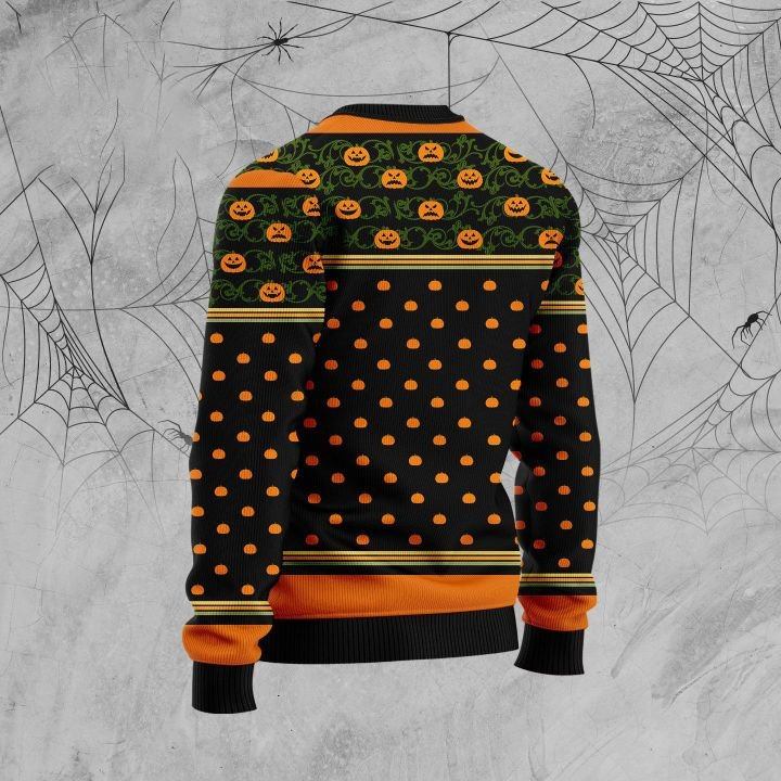 halloween goldendoodle and pumpkin full printing christmas sweater 3