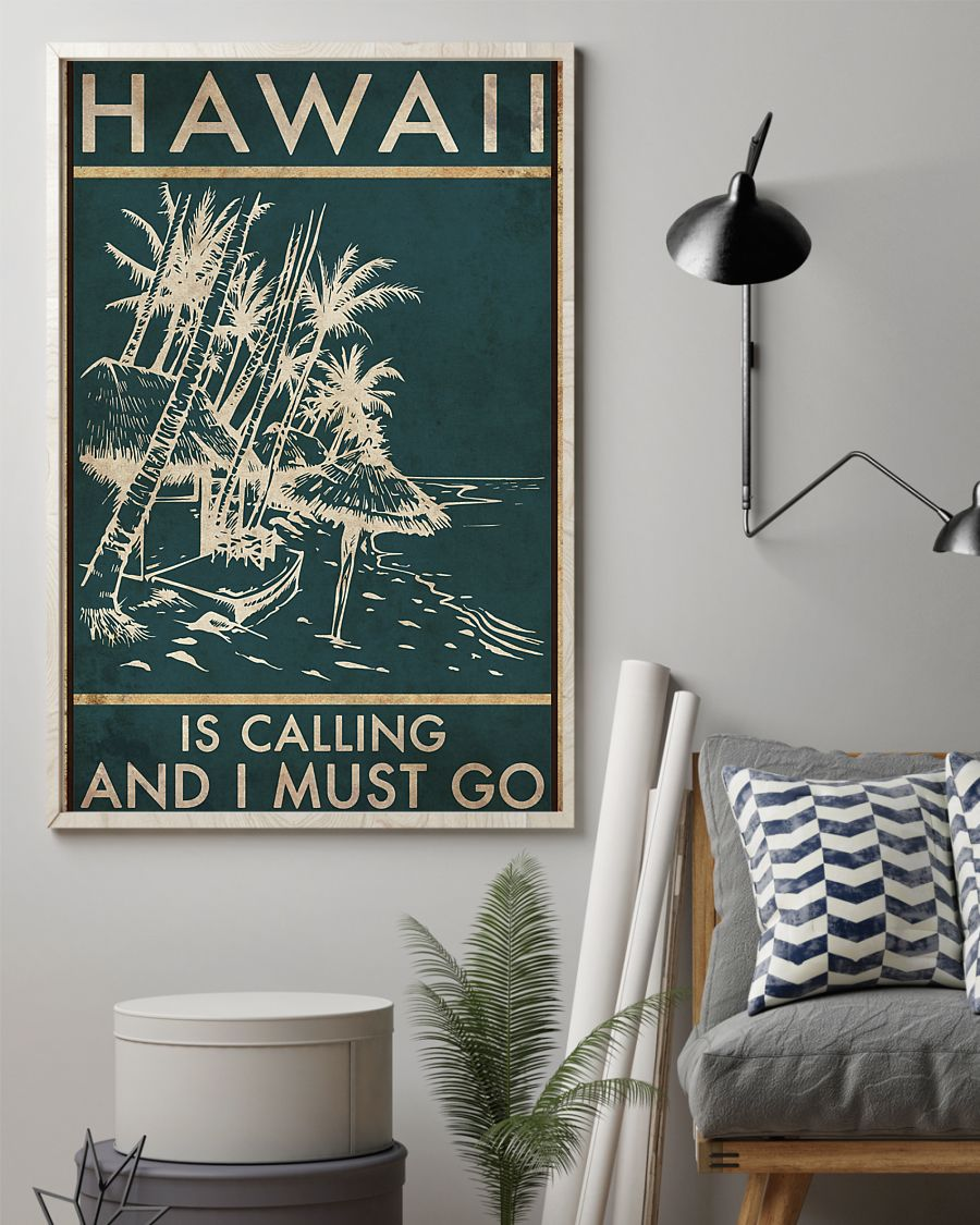 hawaii is calling and i must go vintage poster 2