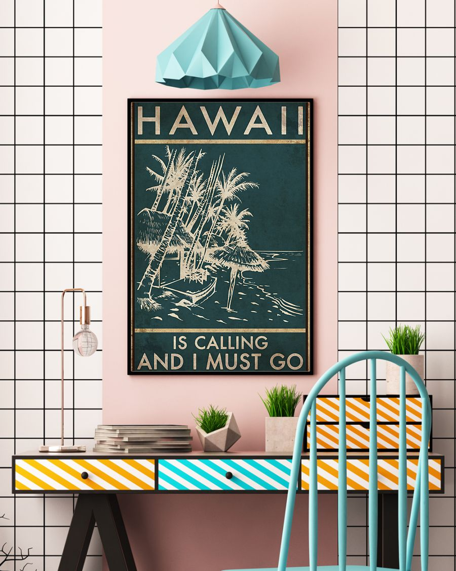 hawaii is calling and i must go vintage poster 3