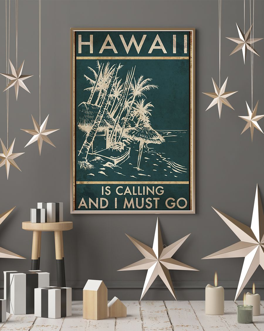hawaii is calling and i must go vintage poster 4