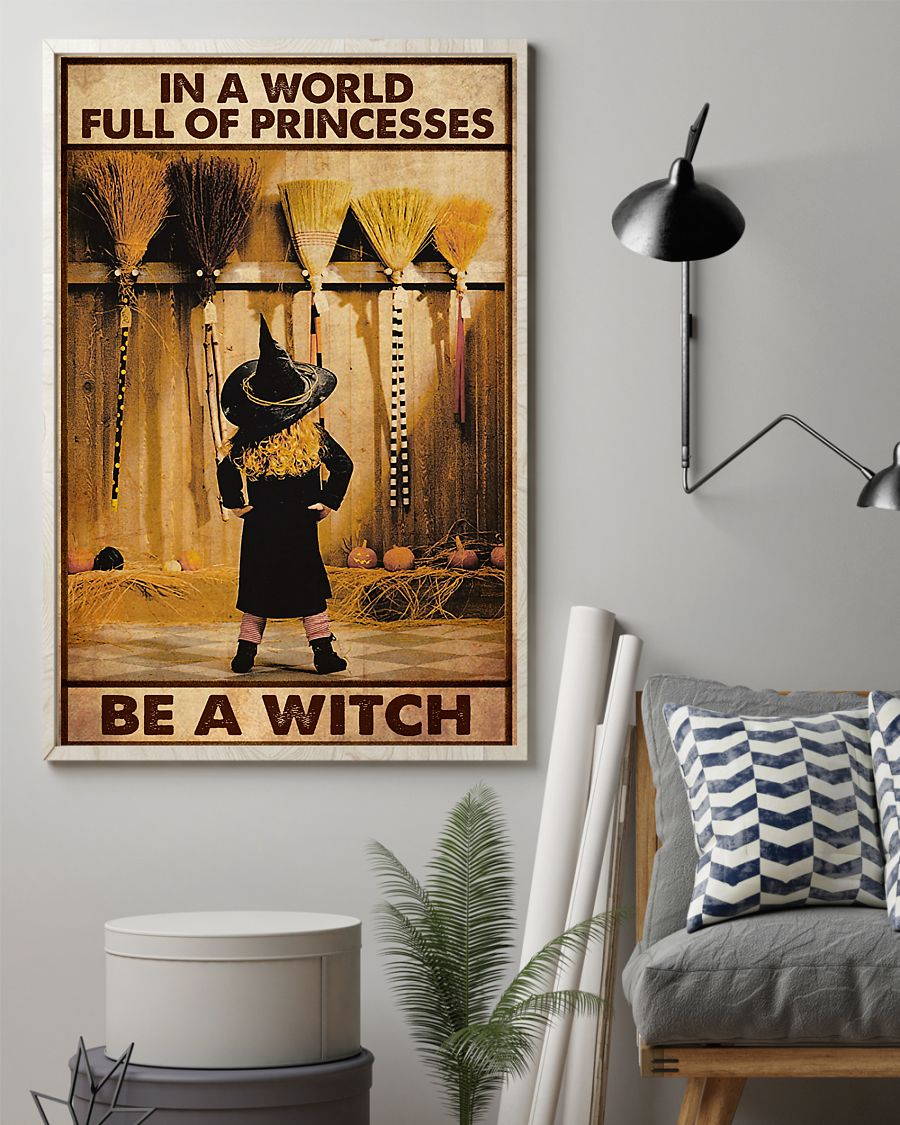 in a world full of princesses be a witch vintage poster 2