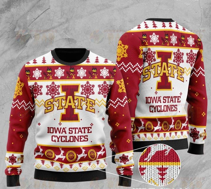 iowa state cyclones football all over printed ugly christmas sweater 2