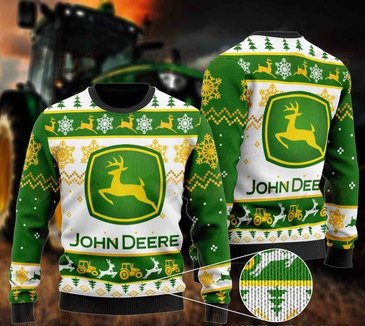 john deere all over printed ugly christmas sweater 2 - Copy