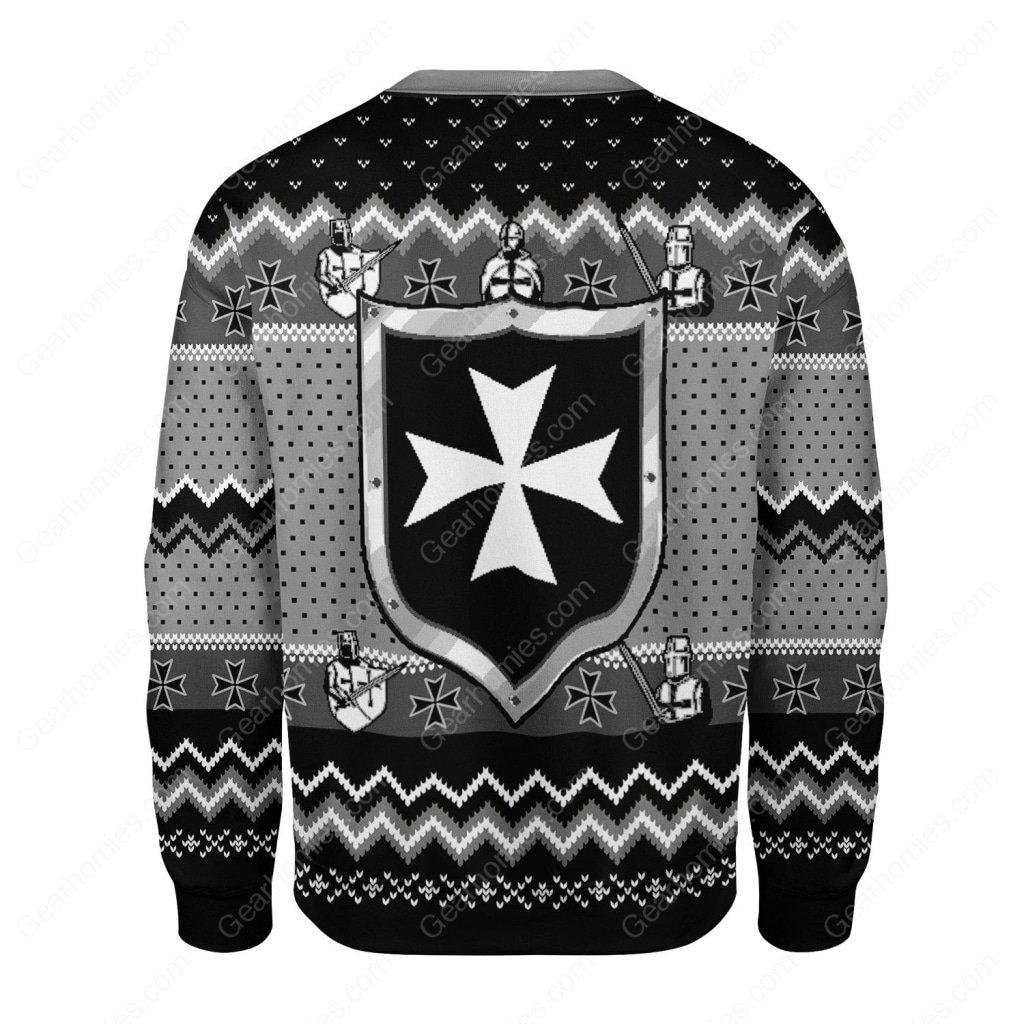 knights hospitaller all over printed ugly christmas sweater 5