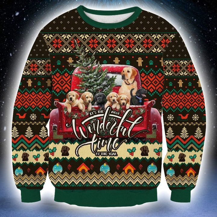 labrador its the most wonderful time of the year christmas sweater 3