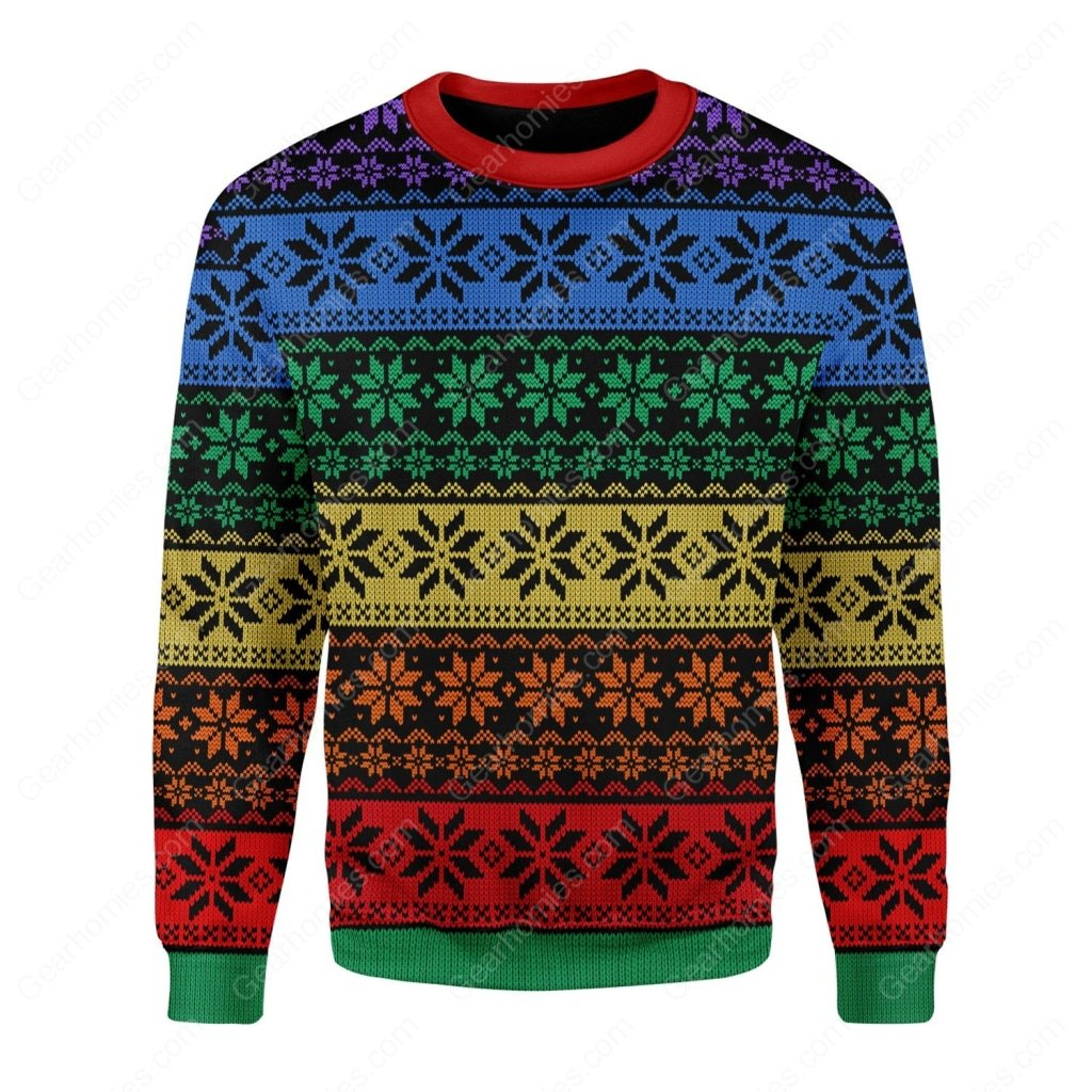 lgbt all over printed ugly christmas sweater 2
