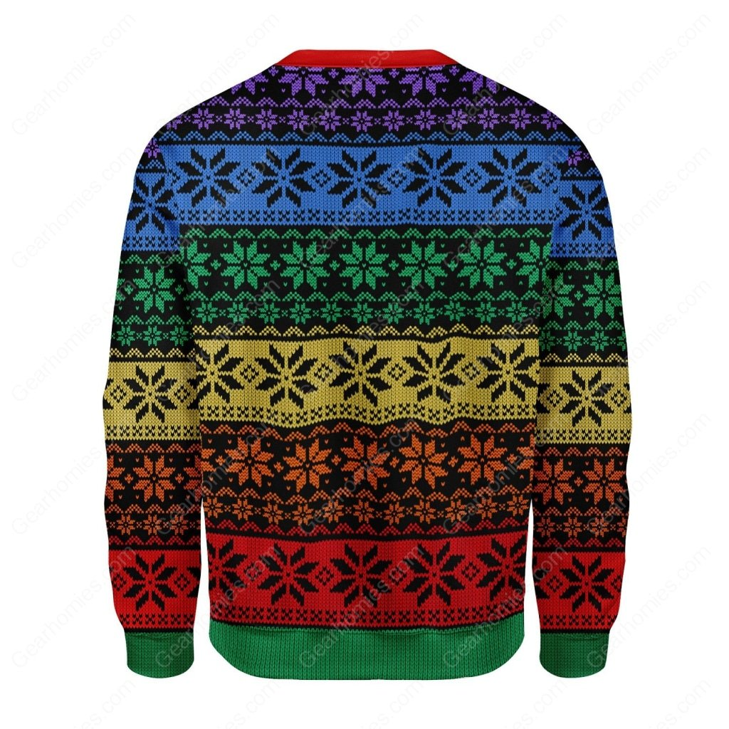 lgbt all over printed ugly christmas sweater 4