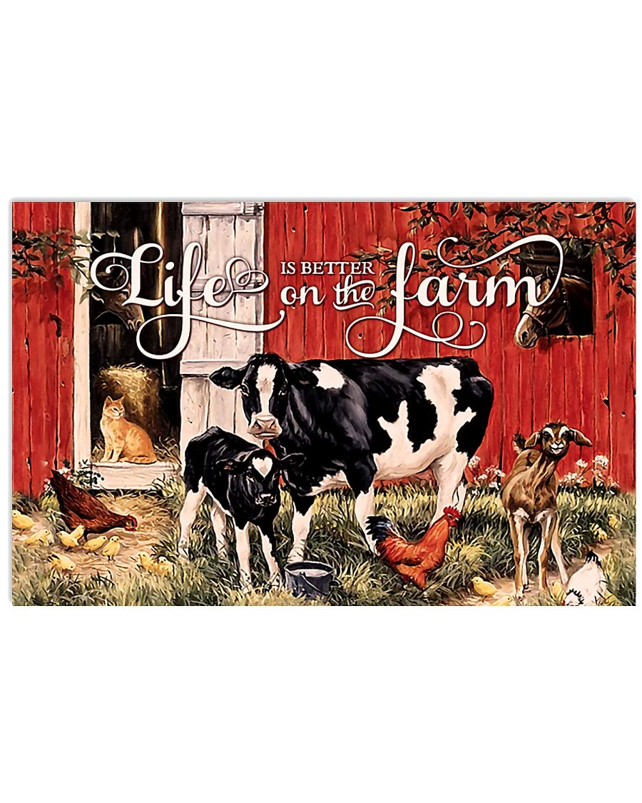 life is better on the farm vintage poster 2