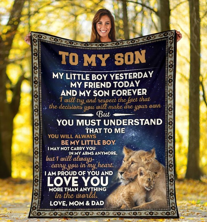 lion to my son i am proud of you and love you more than anything blanket 5