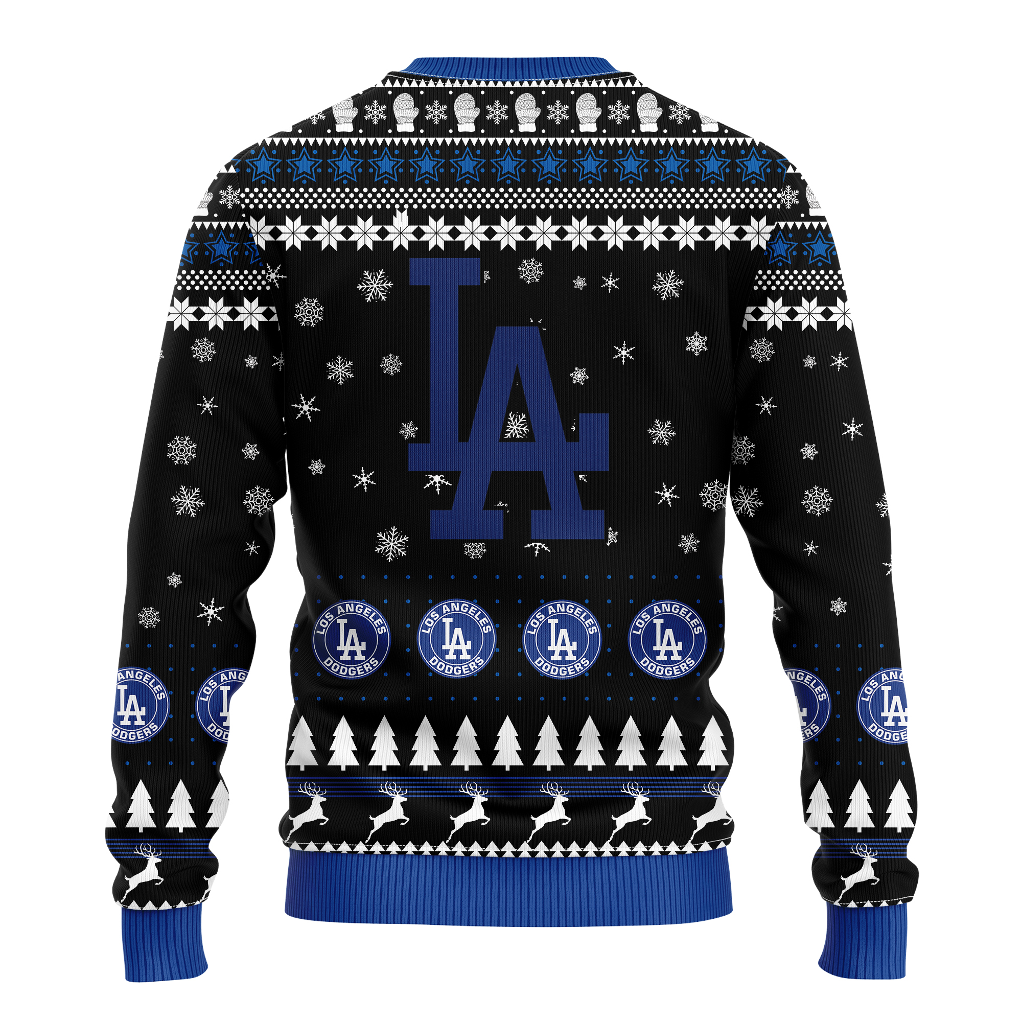 los angeles dodgers world champions 2020 all over printed ugly christmas sweater 3