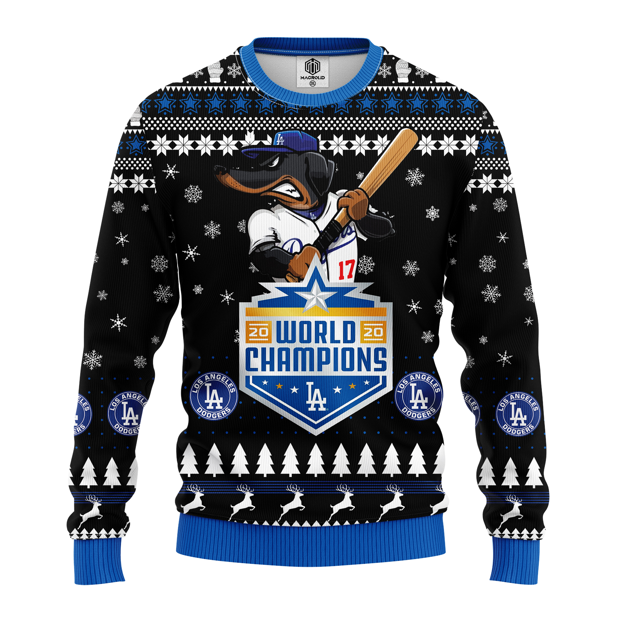 los angeles dodgers world champions 2020 all over printed ugly christmas sweater 4