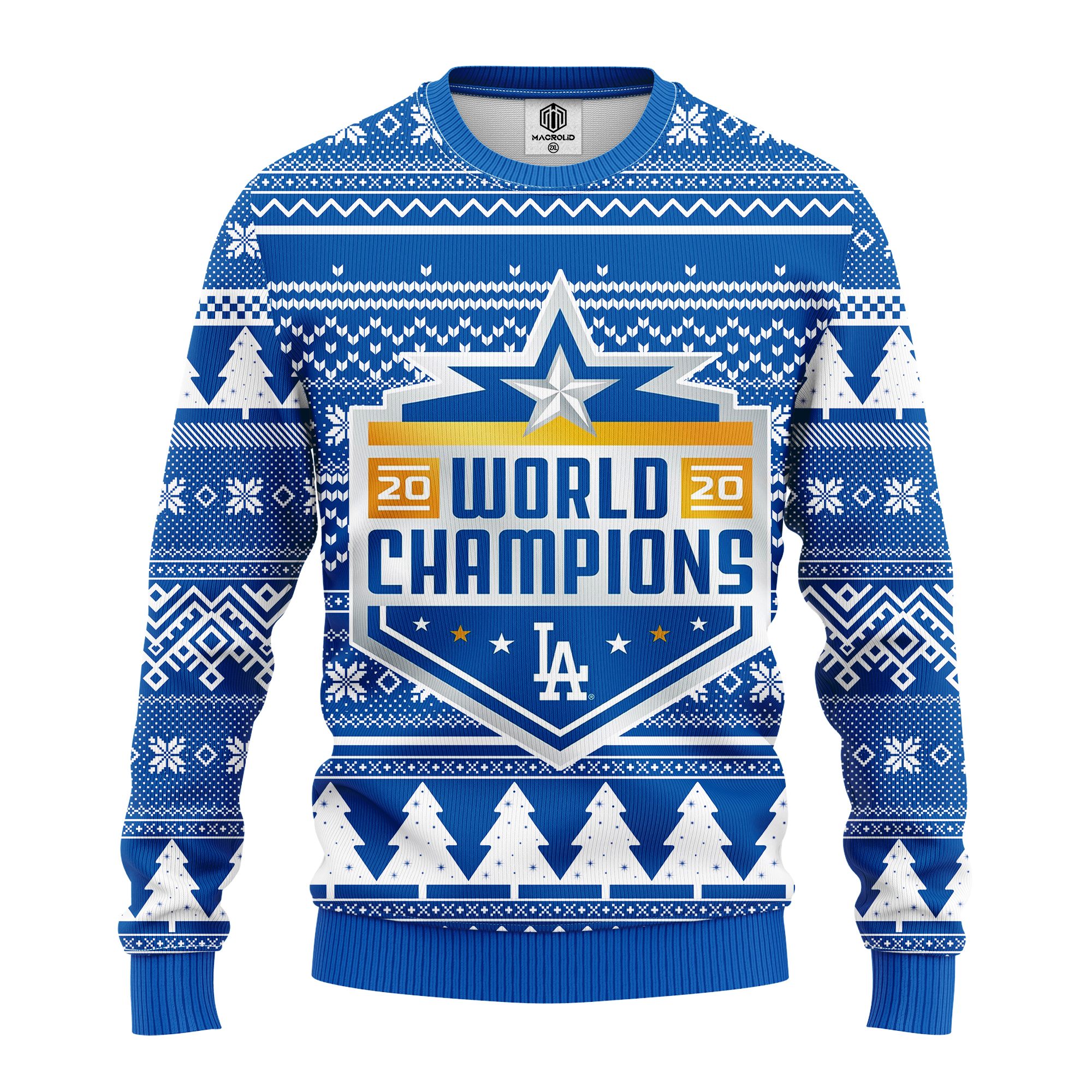 los angeles dodgers world champions ugly sweater 3