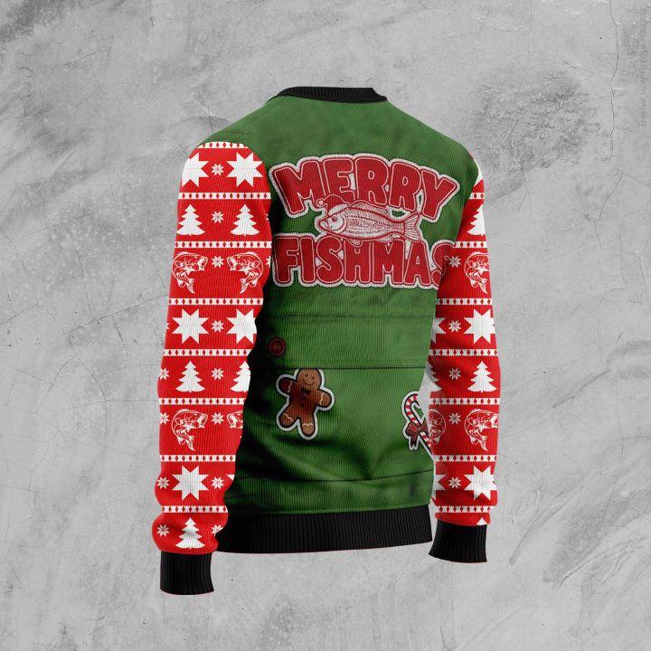 merry fishmas full printing christmas sweater 3
