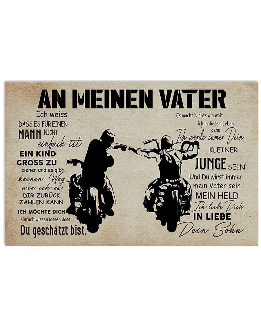 motorcycle an meinen vater dein sohn vintage poster 2
