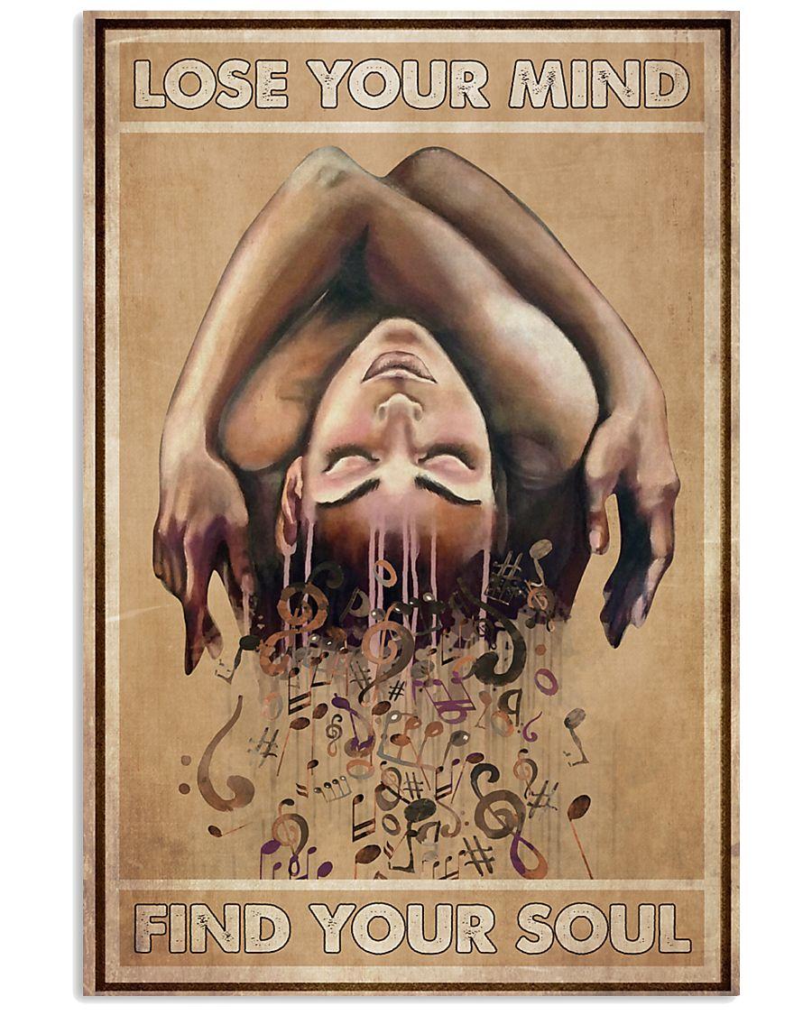 music staff lose your mind find your soul vintage poster 1