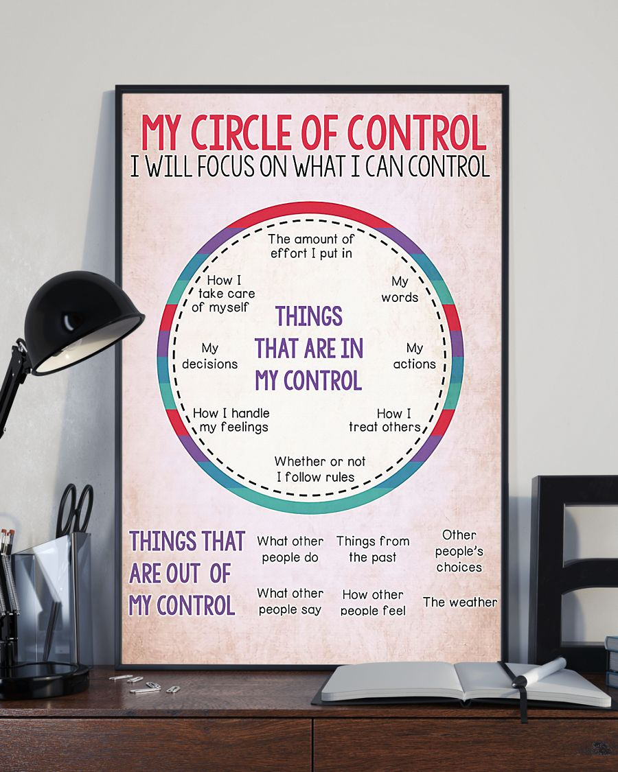 my circle of control i will focus on what i can control poster 1
