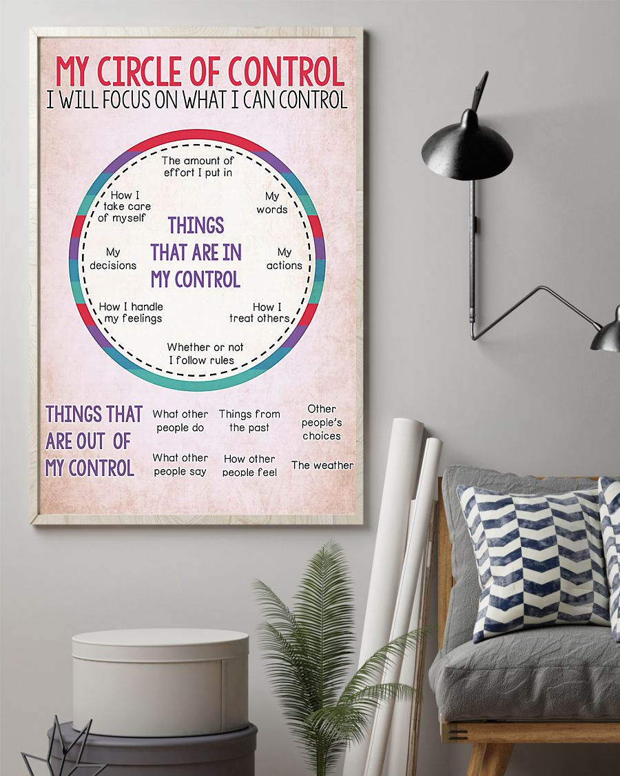 my circle of control i will focus on what i can control poster 4