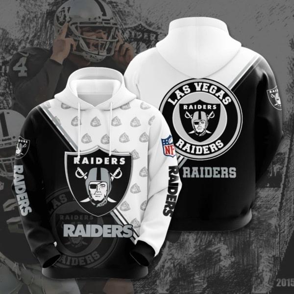 national football league las vegas raiders full printing hoodie