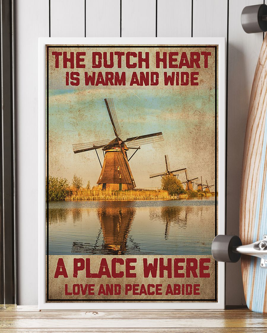 netherlands the dutch heart is warm and wide a place where love and peace abide vintage poster 2