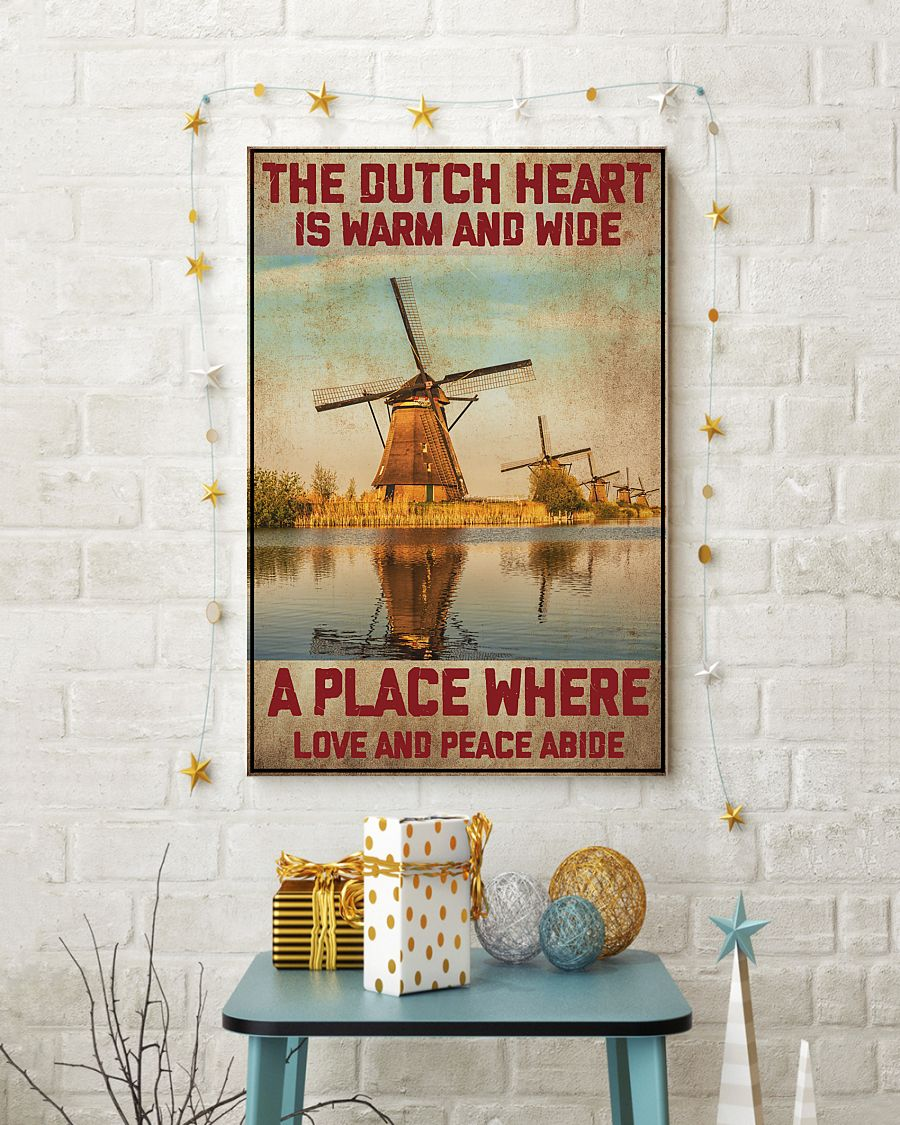 netherlands the dutch heart is warm and wide a place where love and peace abide vintage poster 3