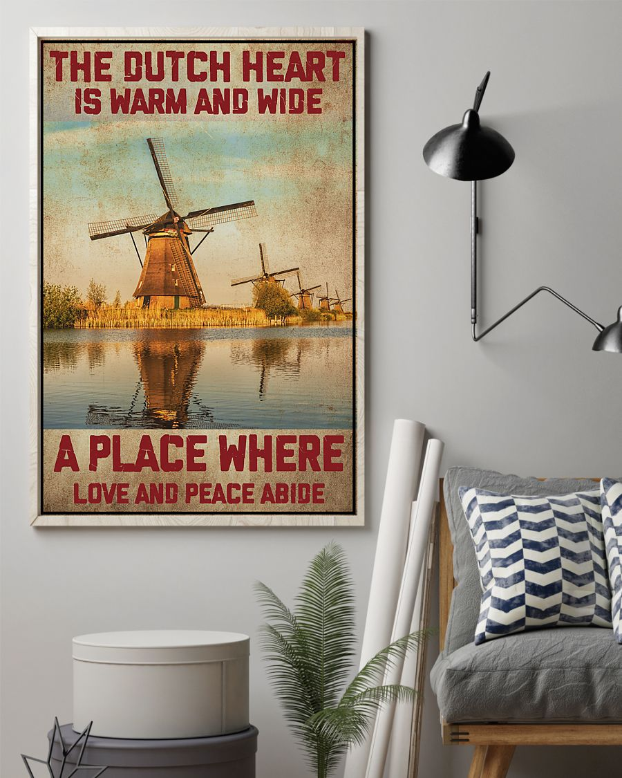netherlands the dutch heart is warm and wide a place where love and peace abide vintage poster 4