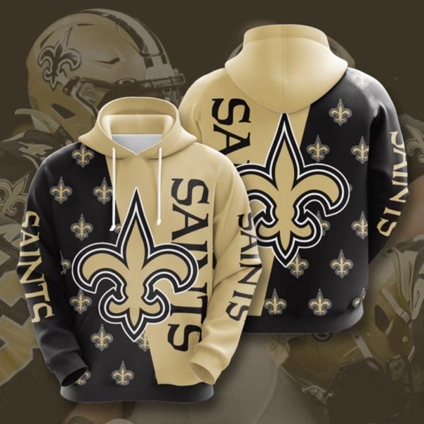 new orleans saints symbol full printing hoodie