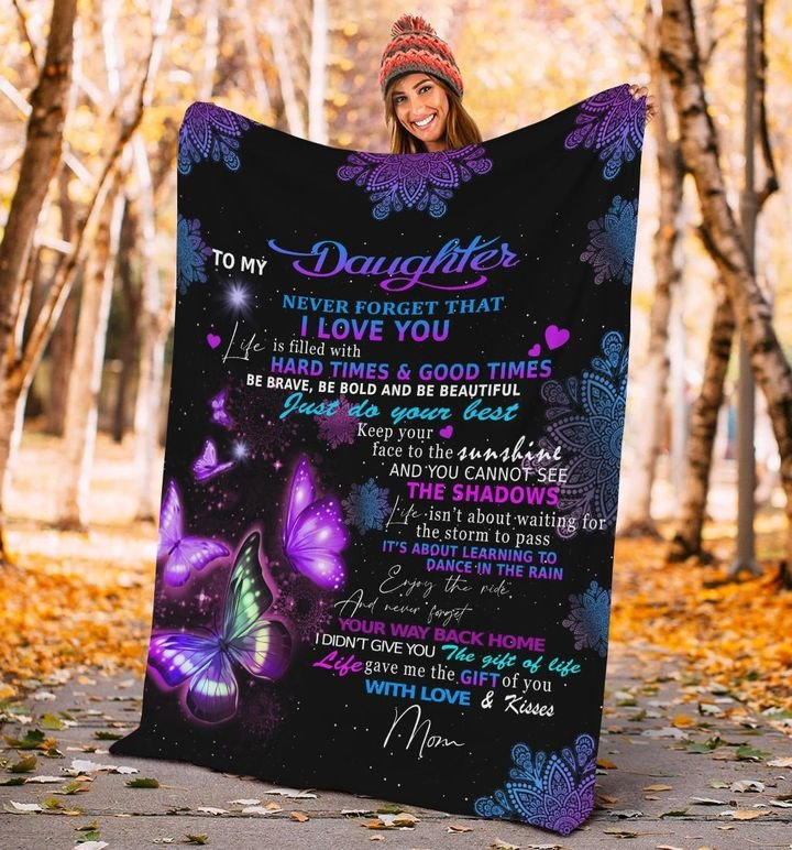 night butterfly to my daughter never forget that i love you blanket 3