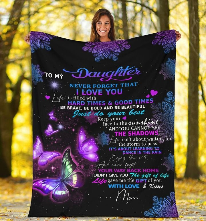 night butterfly to my daughter never forget that i love you blanket 5
