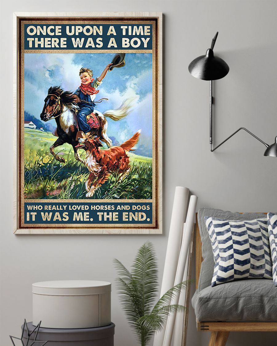 once upon a time there was a boy who really loved horses and dogs poster 2