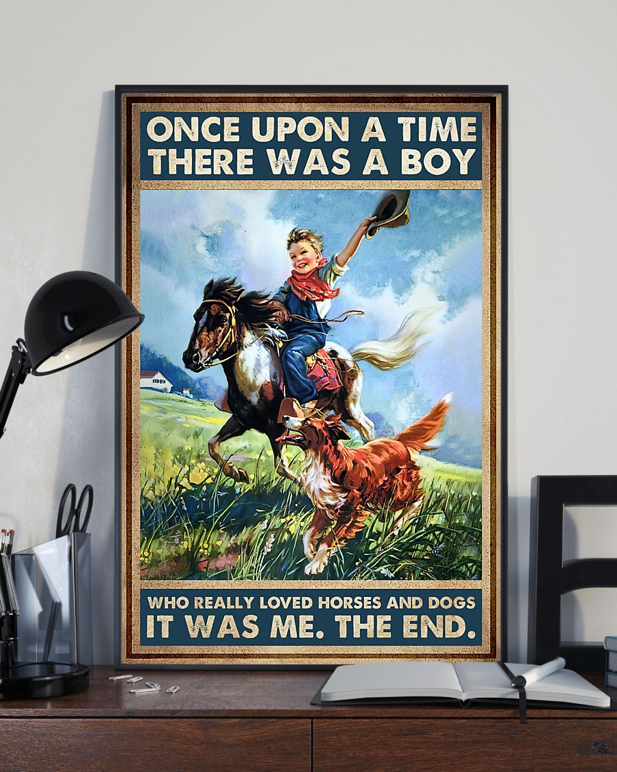 once upon a time there was a boy who really loved horses and dogs poster 3
