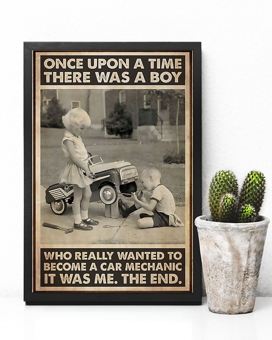 once upon a time there was a boy who really wanted to become a car mechanic poster 3