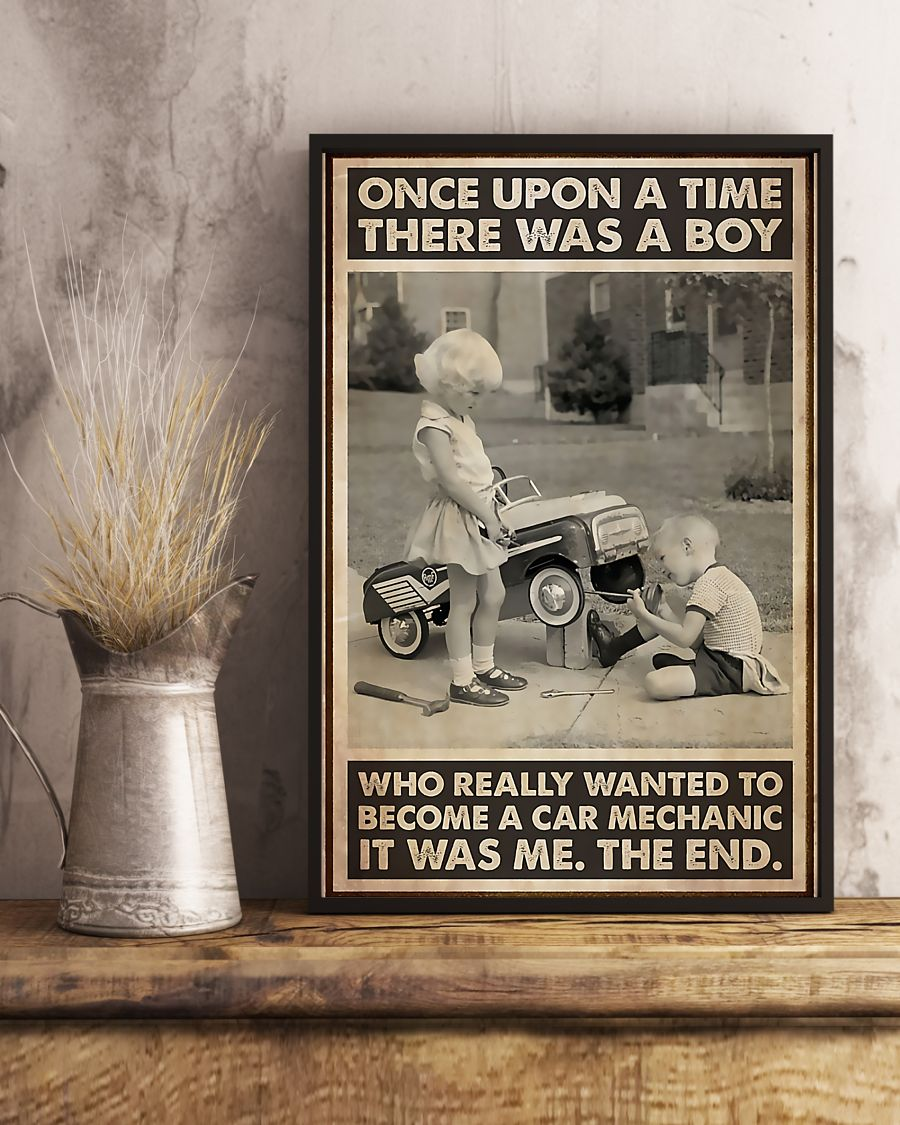 once upon a time there was a boy who really wanted to become a car mechanic poster 4