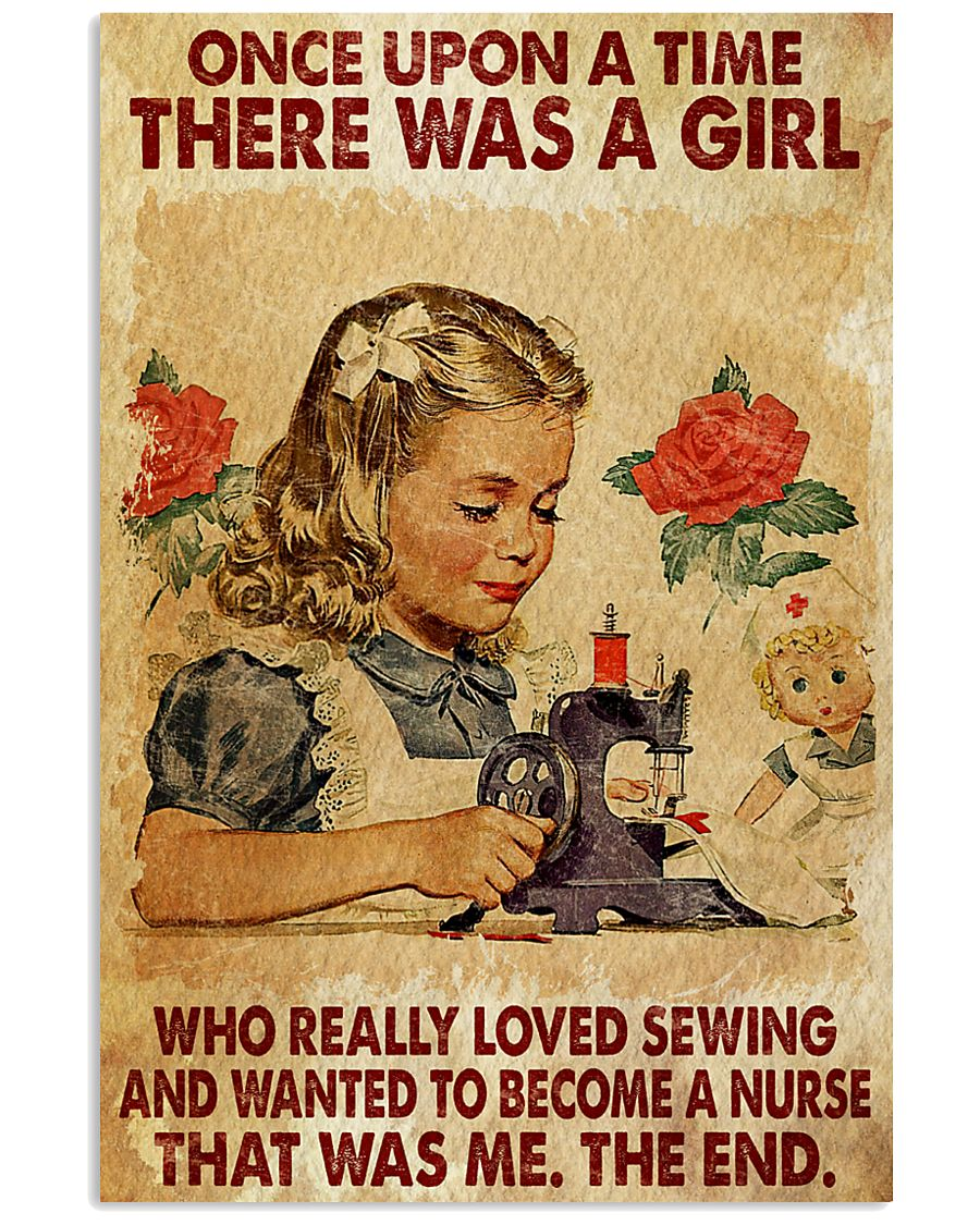 once upon a time there was a girl a girl who really loved sewing and wanted to become a nurse vintage poster 3